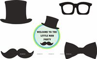 Little Man theme Posters pack of 5