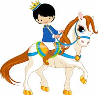Little Prince theme Cute Prince on horse