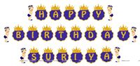 Happy Birthday Banners - Little Prince Theme Birthday Party | Prince Birthday Party