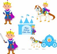 Little Prince theme Posters pack of 5