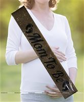 Maternity Props theme Gold Glitter Mom to be Sash