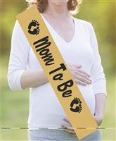 Maternity Props theme Mom To Be Sash Gold