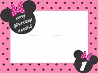Mickey Minnie theme Frame type Minnie Photo Booth