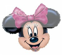 Mickey Minnie theme Minnie Face Foil Balloon