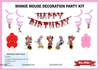 Mickey Minnie theme MInnie Mouse theme party decoration kit (Pack of 31 pcs)