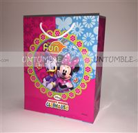 Mickey Minnie theme Minnie Mouse Printed Gift Bags (Pack of 10)