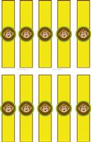 Monkey theme Cute monkey wrist bands