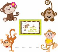 Monkey theme Posters pack of 5