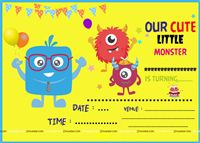 Monster Part Supplies theme Monster Theme Invite