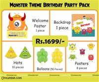 Monster Part Supplies theme Monster Theme Mini Party Pack