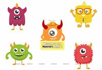 Monster Part Supplies theme Monster Theme Poster Pack of 5