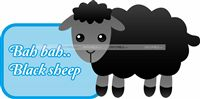 Nursery Rhymes theme Baa Baa Black Sheep cutout