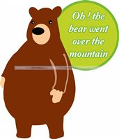 Nursery Rhymes theme Bear went over the mountain cutout
