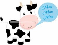Nursery Rhymes theme Cow Cutout