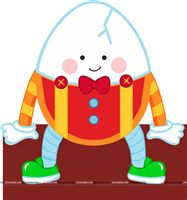 Nursery Rhymes theme Humpty Dumpty Cutout