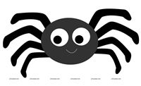 Nursery Rhymes theme Incy Wincy Spider Cutout