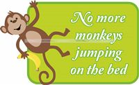 Nursery Rhymes theme Monkeys jumping on the bed
