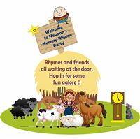 Nursery Rhymes theme Welcome banner