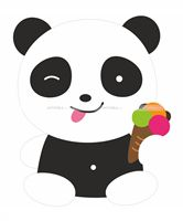 Panda with candy poster - Panda theme