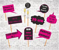 Photo Shoot theme 30th Birthday Party Photo Props
