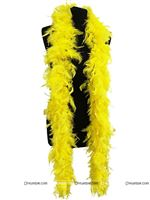 Feather Boa Garland Yellow