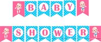 Buntings - Pink & Blue Baby Shower