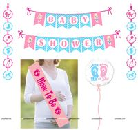 Pink & Blue  theme Baby Shower Party Kit with Balloon