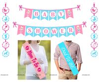 Pink & Blue  theme Baby Shower Mini Party Kit