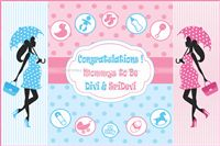 Pink & Blue Baby Shower Backdrop