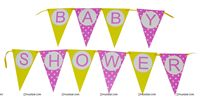 Buntings - Yellow and Blue Baby Shower