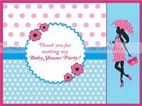 Thank you cards-Pink and blue