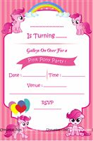 Pink Pony Theme Invites