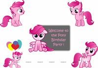 Pink Pony Theme Poster Pack of 5