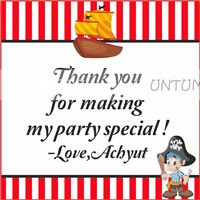 Pirate birthday theme Little Pirate Thank you cards