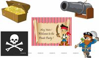 Pirate birthday theme Posters pack of 5