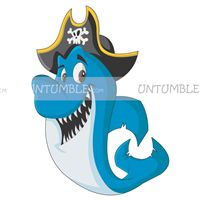 Pirate birthday theme Shark Poster