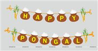 Pongal Party Supplies theme Happy Pongal Bunting Banner