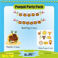 Pongal Party Supplies theme Pongal Decoration Party Pack