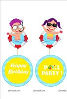 Pool Party theme  - Pool Party Danglers