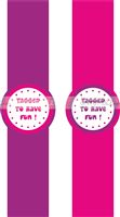 Princess Birthday theme Pink & Purple Wrist bands