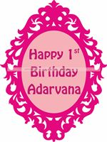 Princess Birthday theme Pink vintage Frame