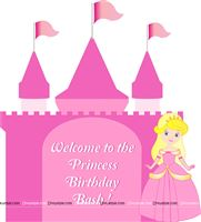 Princess Birthday theme Princess castle welcome board