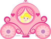 Princess Birthday theme Princess in carriage poster