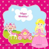 Princess Birthday theme Princess theme party backdrop