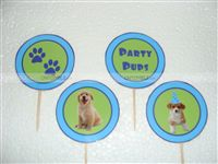 Cup cake toppers - Puppy Love/Dog Theme Party Supplies