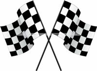 Chequered Flag cutout - Race Car