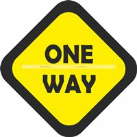One way Cutout - Race Car