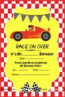 Race Car Theme Invite