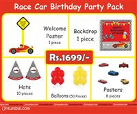 Race Car Theme Mini Party Pack