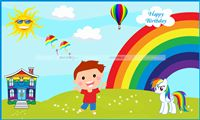 Rainbow theme Rainbow Boy Backdrop